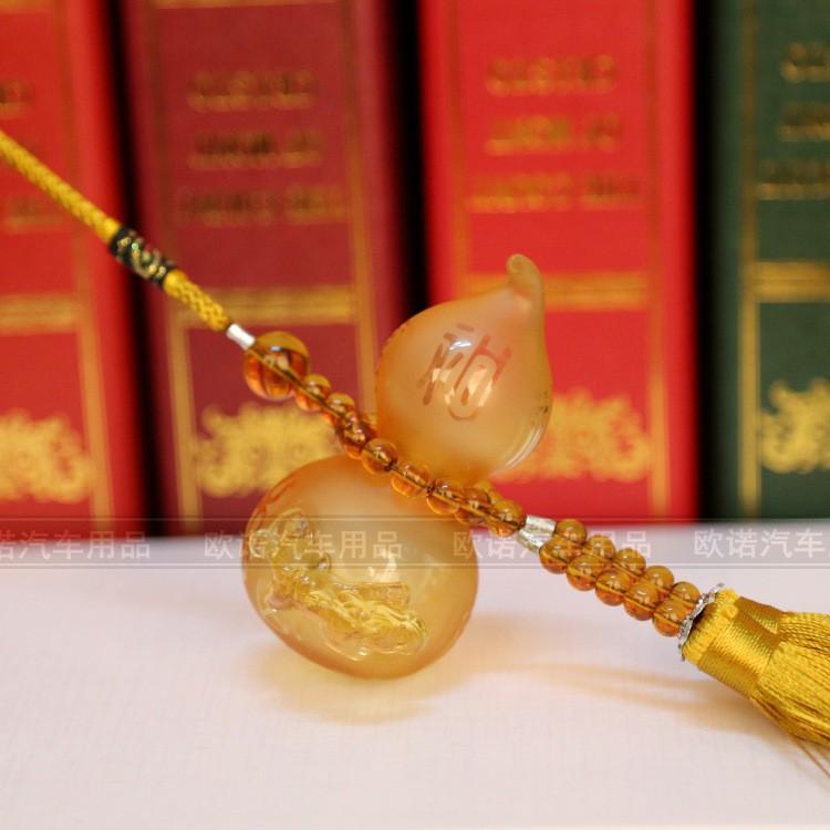Glass gourd perfume bottle Fu Lu Shou car hanging perfume c