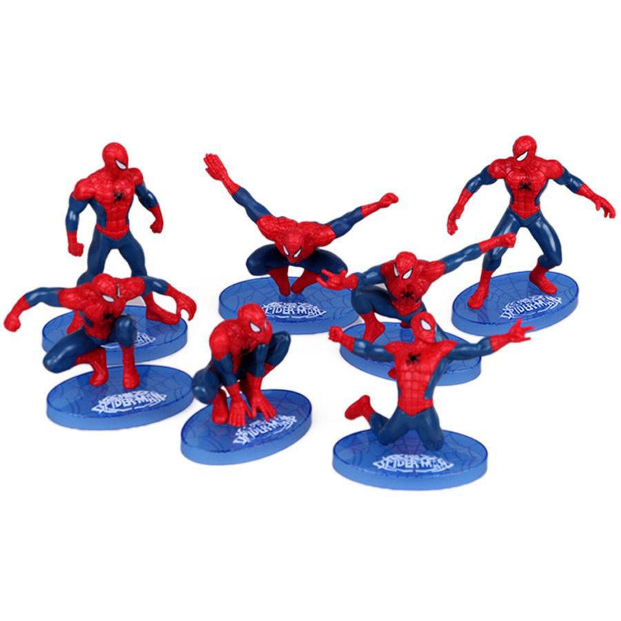7pcs/set Spider-Man Marvel Super Hero Action Figure Collection Kids Toys Gifts