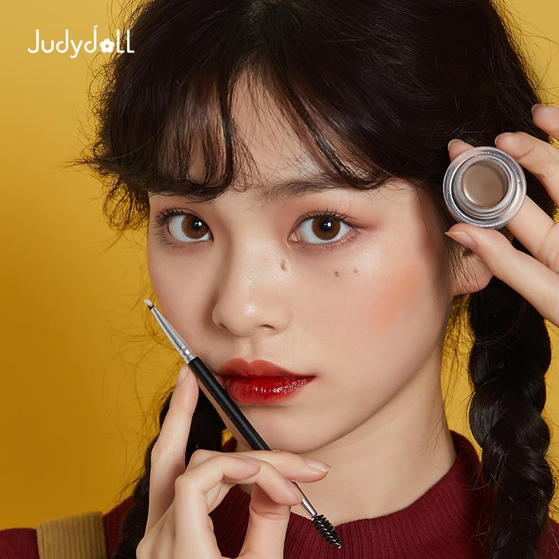 ✚❒﹉Judydoll orange flower paste waterproof eyebrow shaping natural pencil rubber anti-perspiration beginners don't dec