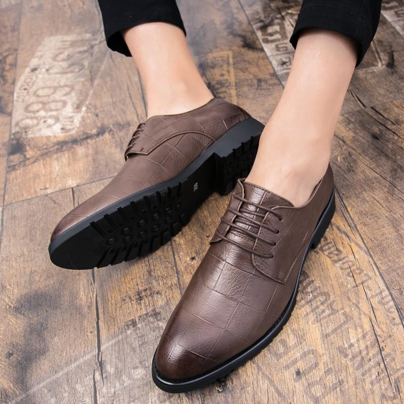 giày da thắt dây phong cách hàn quốc trẻ trung dành cho nam