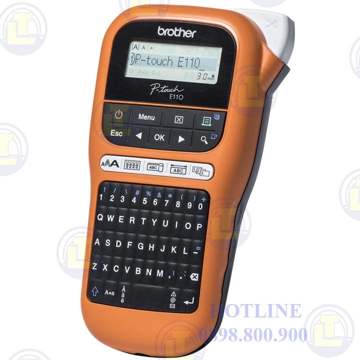 """Máy in nhãn BROTHER PT- E110 """"Tặng 01 cuộn nhãn tiêu chuẩn TZ2-9mm và 12mm"""""""