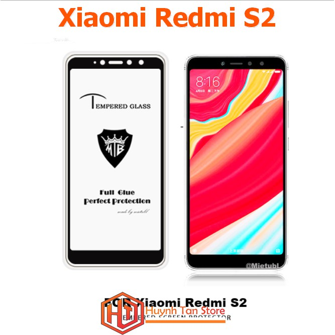 Xiaomi Redmi S2 _ Cường lực 5D full màn, full keo
