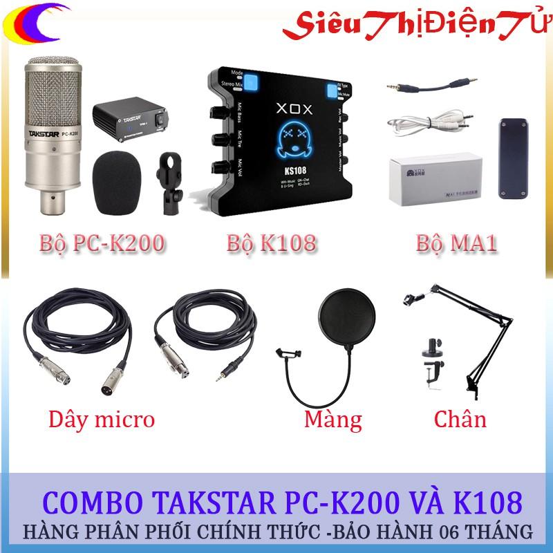 Combo micro thu âm PC-K200 và Soundcard k108 - 2887186 , 545911343 , 322_545911343 , 3200000 , Combo-micro-thu-am-PC-K200-va-Soundcard-k108-322_545911343 , shopee.vn , Combo micro thu âm PC-K200 và Soundcard k108
