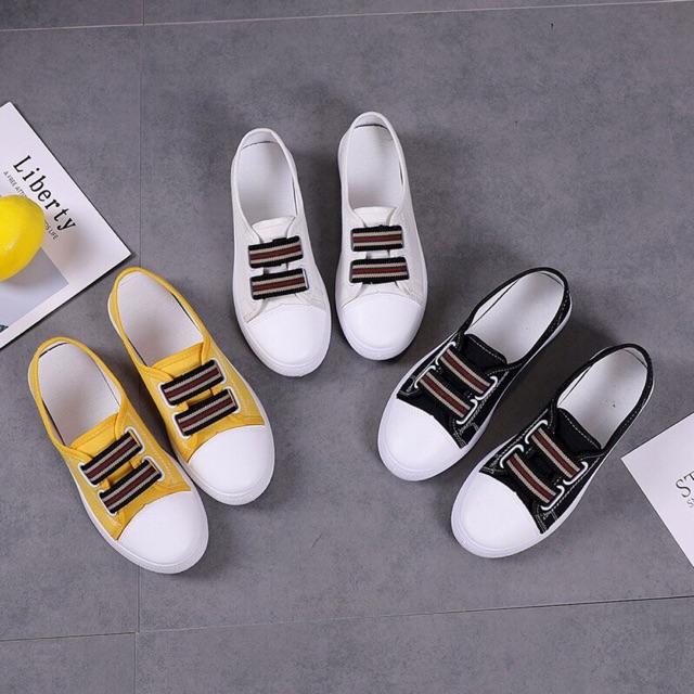 Giày Vải 2 Quai Thời Trang Phong Cách Hàn Quốc
