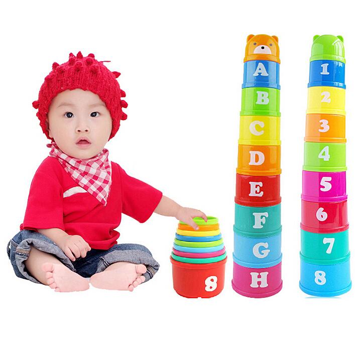 READY STOCKChildren's baby toy stack cup