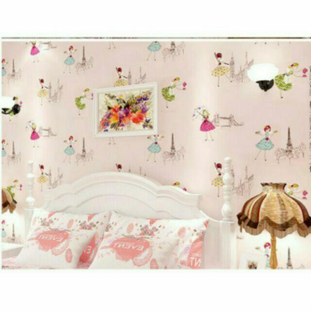 Combo giấy dán tường công chúa nhỏ