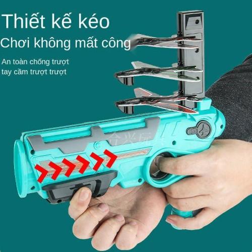 Súng đồ chơi trẻ em bắn máy bay mô hình gồm súng và 4 máy bay