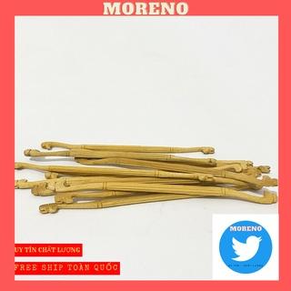 Cầu đậu MORENO cho chim khuyên chất liệu gỗ cao cấp thân tách chỉ đầu khắc đầu rồng nổ thumbnail