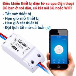 Bộ công tắc thông minh SonOFF Basic 10A điều khiển bật tắt và hẹn giờ thiết bị điện qua Wifi-3G-4G