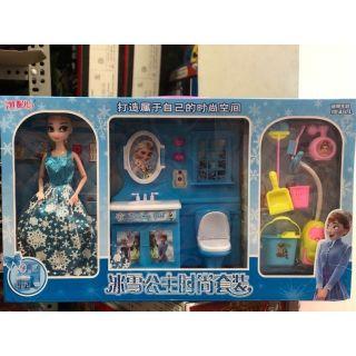 búp bê Elsa và nhà tắm