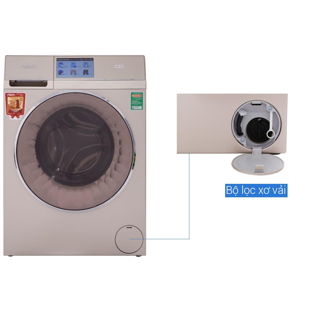 VẬN CHUYỂN MIỄN PHÍ KHU VỰC HÀ NỘI ] Máy giặt Aqua cửa ngang 10kg giặt 5kg  sấy AQD-D1000HT