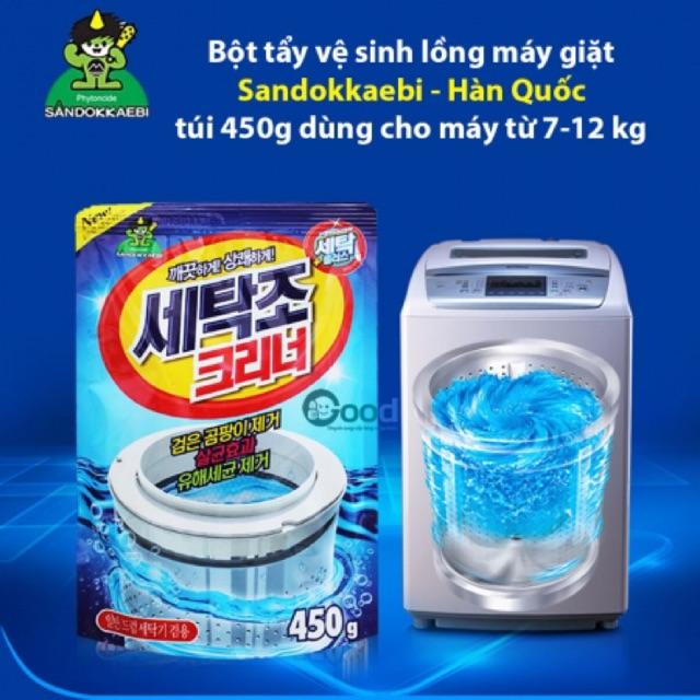 [SALE 10%] Bột tẩy vệ sinh lồng máy giặt Sandokkaebi 450gr