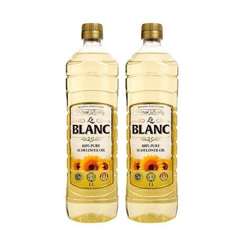 Combo 2 Chai Dầu Hạt Hướng Dương Nguyên Chất Le Blanc 1 Lít