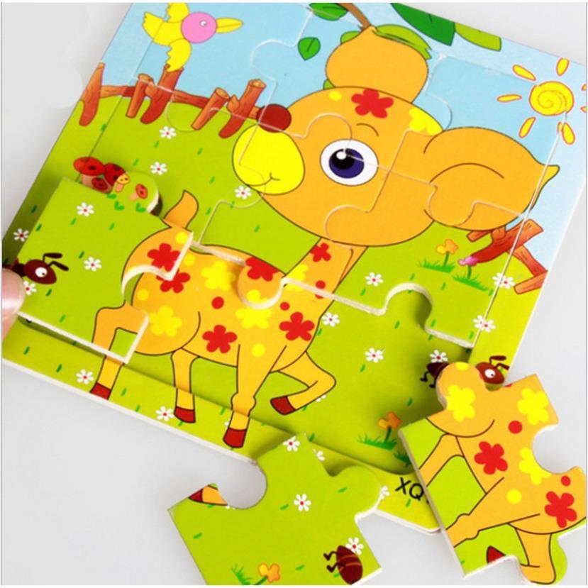 [TRỢ GIÁ ] Tranh ghép gỗ 9 mảnh_ Đồ chơi gỗ xếp hình cho bé