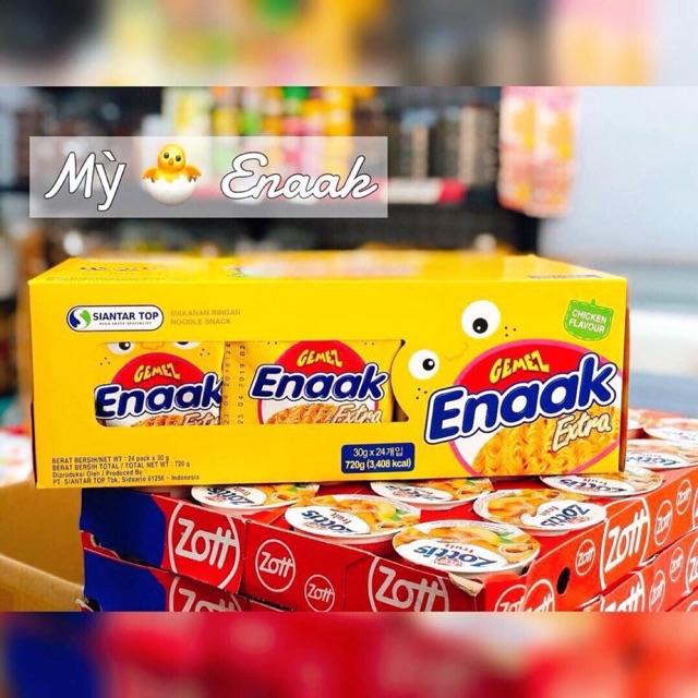Mì tôm ăn liền Enaak vàng 99k/ hộp 24 gói