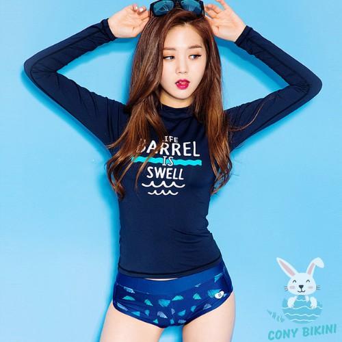 Bộ Đồ Tập bơi đi tắm biển nữ Bikini 2 Mảnh (1 Set Áo dài và quần lót) Barrel Swell II NAM CONY