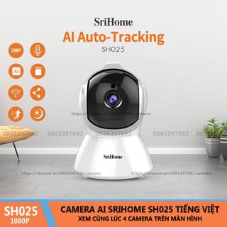 Camera WiFi AI Thông Minh Srihome SH025 - 2.0Mpx 1080P Tiếng Việt thumbnail