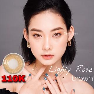 Kính áp tròng LIGHLY BROWN [FREESHIP] – màu nâu tây – Lens Hàn Quốc 1 tháng