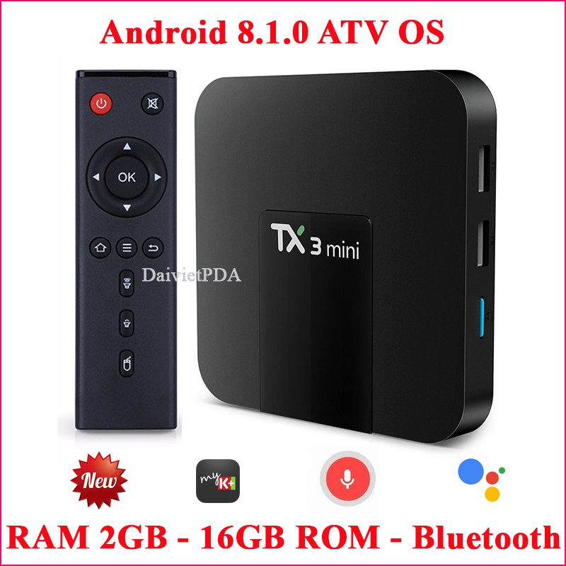 Android Tivi Box TX3 mini - Android TV OS 8.1.0 , Bluetooth