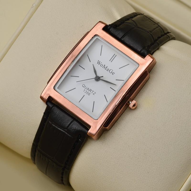 Đồng hồ nam dây da mặt vuông Womage PKHRWMG003