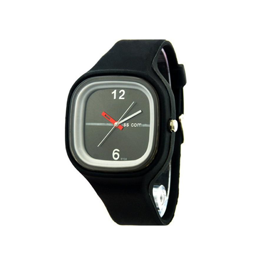 Đồng hồ dây đeo Silicon kiểu dáng thể thao đơn giản cho nam/nữ