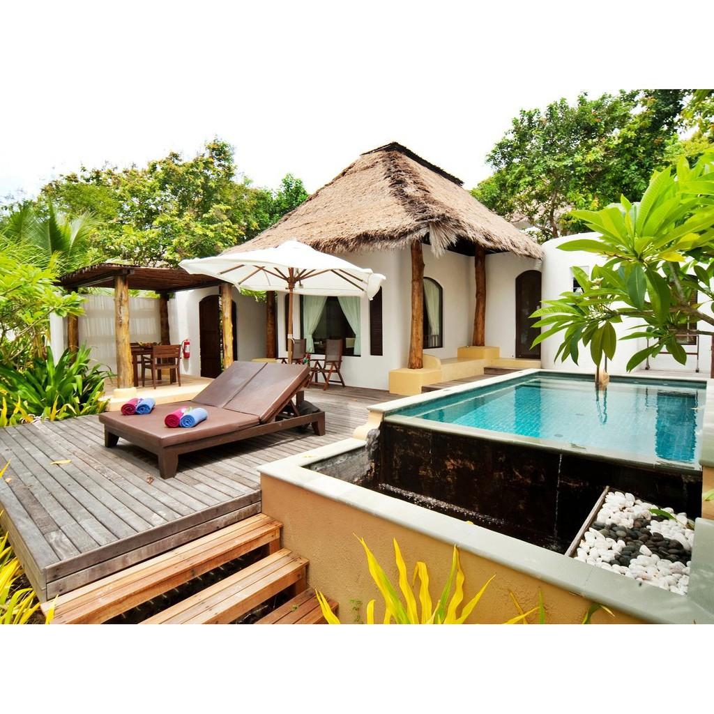 Voucher : Paradee เสม็ด ห้อง garden pool villa พร้อมอาหารเช้า สำหรับ 2 ท่าน