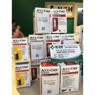 Que thử đường huyết Accu-chek Accuchek accu chek Performa 25 test của Mỹ
