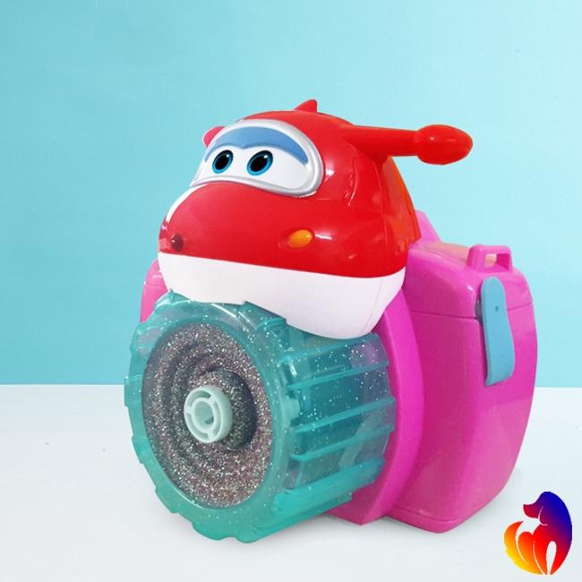 Kids Automatic Electric Camera Shape Soap Bubble Machine Outdoor Kids Toy Random Color
