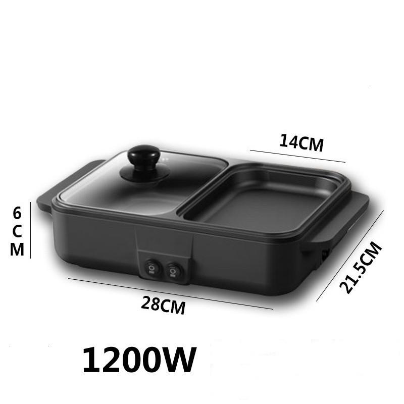 Bếp lẩu nướng 2 trong 1, bếp nướng lẩu điện đa năng ( MẪU MỚI 2020)