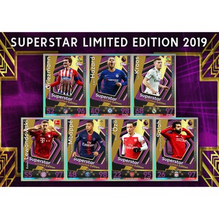 Set thẻ in Match Attax Superstar Limited Edition Hoàng Gia