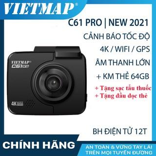 Camera hành trình VIETMAP C61 Pro (bản 2021) 4K, G.P.S, wifi, tặng thẻ nhớ 64GB 4k full hd, đầu đọc thẻ, sạc tẩu cho xe thumbnail