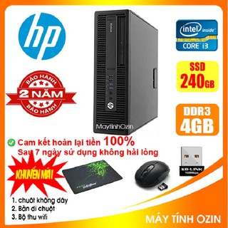 Case máy tính để bàn đồng bộ HP CPU i3 4130 - RAM 4GB - SSD 240GB - SSD 120GB
