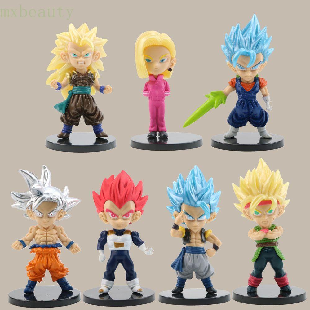 Set 7 mô hình nhân vật Son Goku trong Dragonball