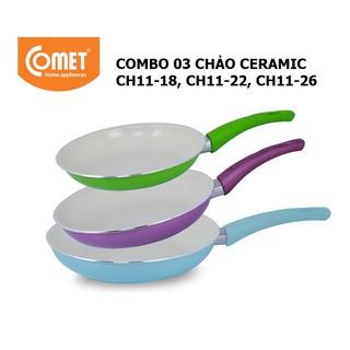 Combo 3 chảo chống dính Ceramic COMET - CH11-18&22&26 thumbnail