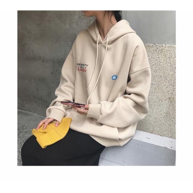 Áo hoodie lá thư màu tan UNISEX | BigBuy360