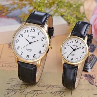 Đồng hồ thời trang nam nữ KASQI dây da mềm, mặt số cổ điển dể dàng xem giờ ( Mã AKSQ03 ) thumbnail