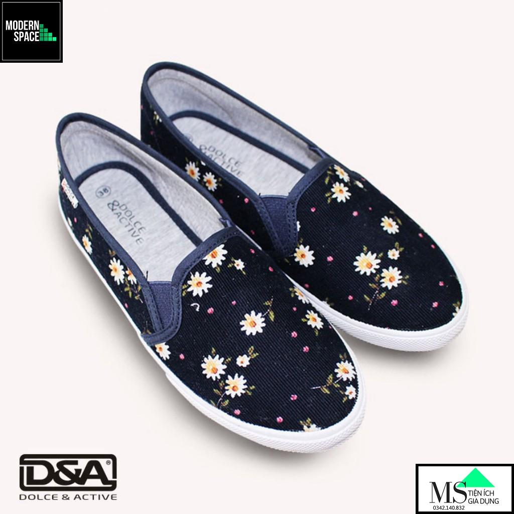 (GIÀY NỮ UDA) Giày Slipon Nữ thời trang D&A L1727 Xanh chàm [CHÍNH HÃNG]