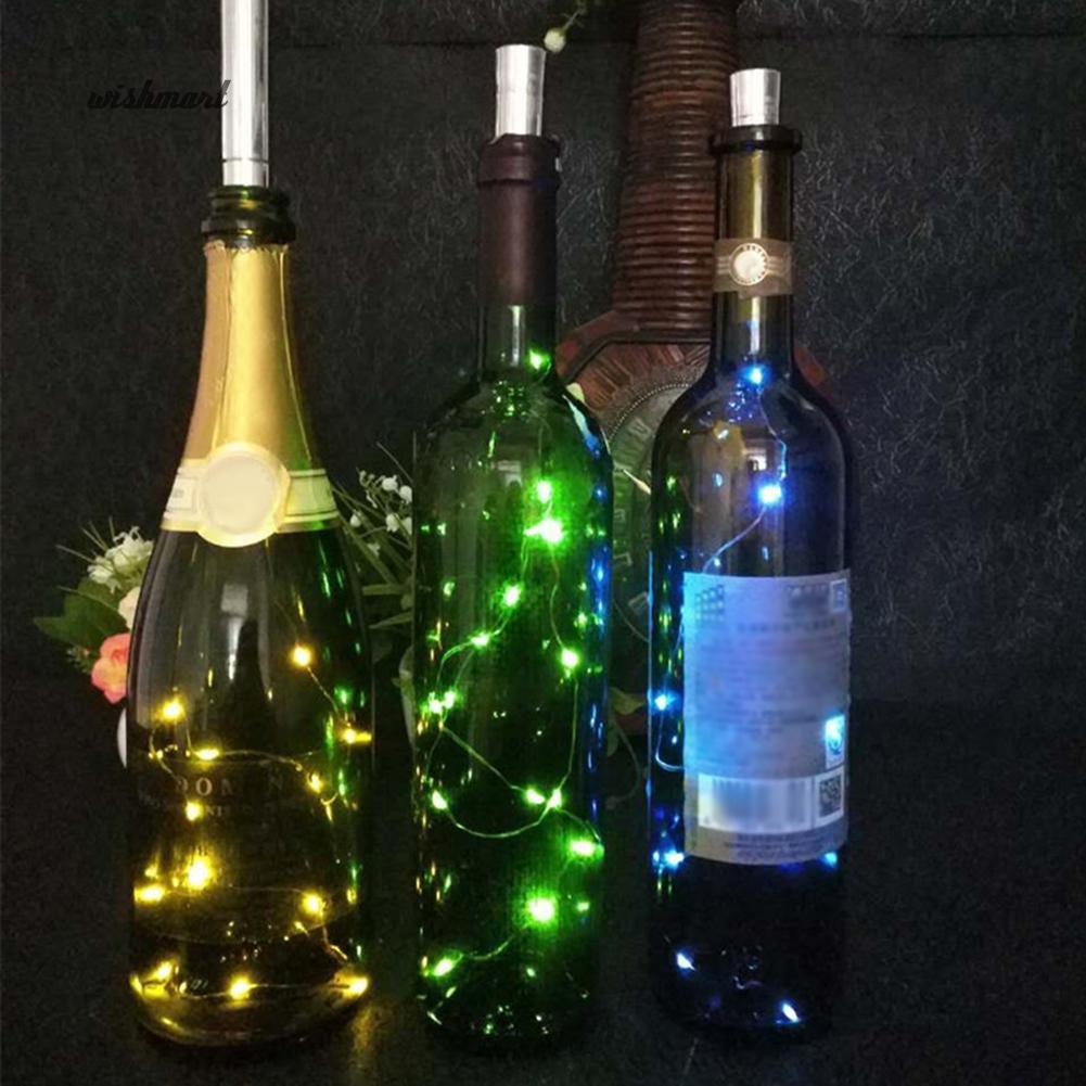 Đèn Led Dây 15 Bóng Dài 75Cm Hình Chai Rượu Dùng Trang Trí Giáng Sinh