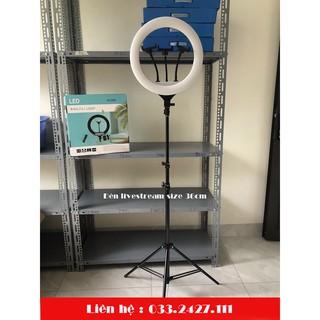 ( CHÍNH HÃNG ) Đèn Livestream, Đèn led chụp Hình Size 36cm, 3 Kẹp, Kèm Chân 2m1 kèm remote, bảo hành 06 tháng
