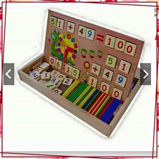 [Sale Giá Sốc] Sản phẩm bảng gỗ toán học thông minh cho bé có que tính
