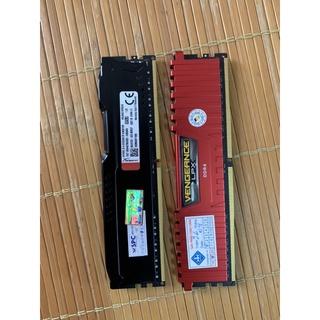 Cặp ram PC 2x 8GB x 2666MHZ Corsair và HyperX