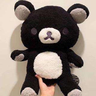 [Gấu Nhât-SanX] Rilakkuma Black Monochrome Fluffy Bear Plush