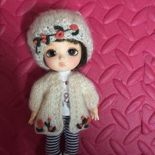 Áo và mũ len cho búp bê