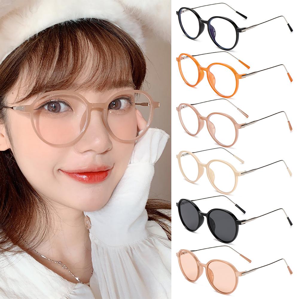 XIANSTORE Women Men Eyeglasses Vintage Ultra Light Frame Anti-Blue Light Glasses Portable Fashion Computer Round Eye Protection
