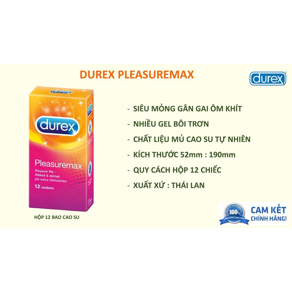 [CHÍNH HÃNG] COMBO 12 bao cao su Durex Pleasuremax + 12 bao cao su Durex Performa