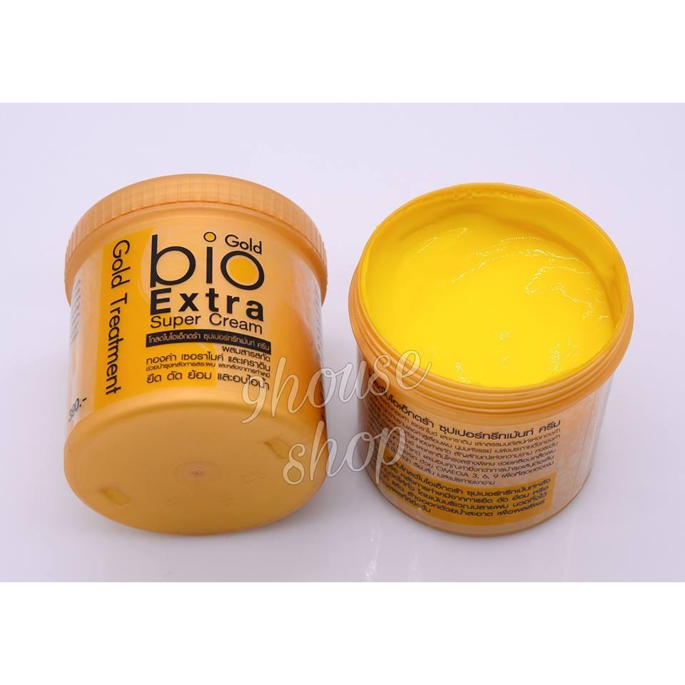 (HỦ 500ML - VÀNG) 01 Hủ Ủ TÓC BIO Gold Treatment Thái Lan 500ml