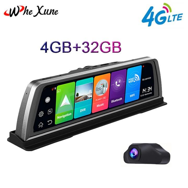 Camera hành trình đặt taplo ô tô, thương hiệu cao cấp Whexune - V900: 4G, wifi, android 8.1, 10 inch