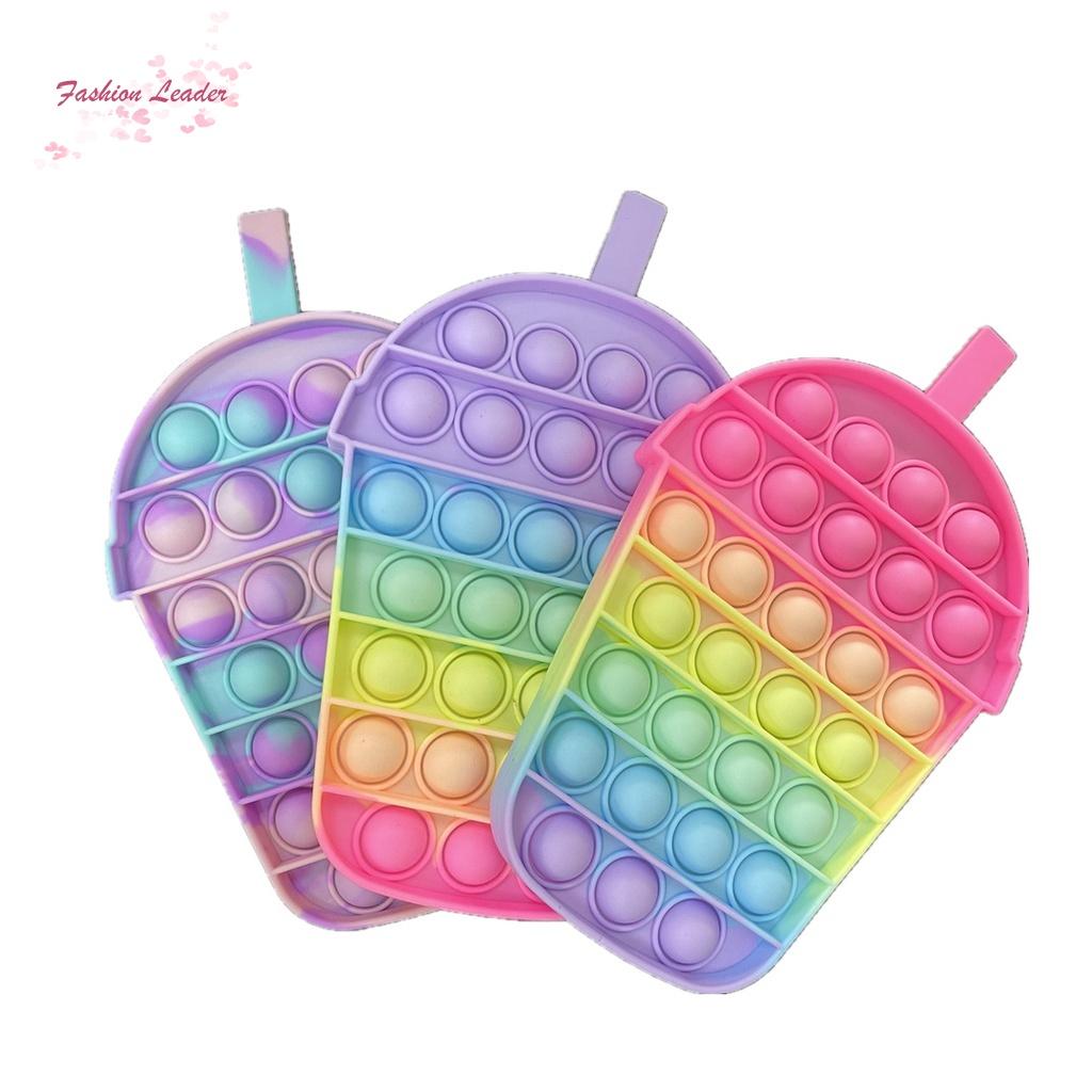 Đồ chơi nhấn bong bóng màu cầu vồng hình kỳ lân sáng tạo giúp giảm căng thẳng cho lớp học trẻ em