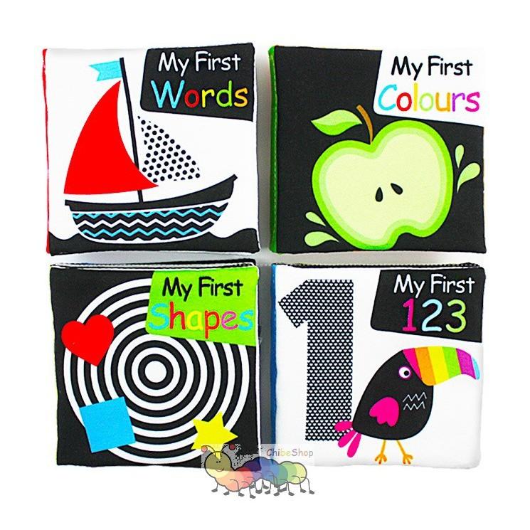 Bộ sách vải phát triển thị giác dành cho bé từ 0-1 tuổi - LakaRose