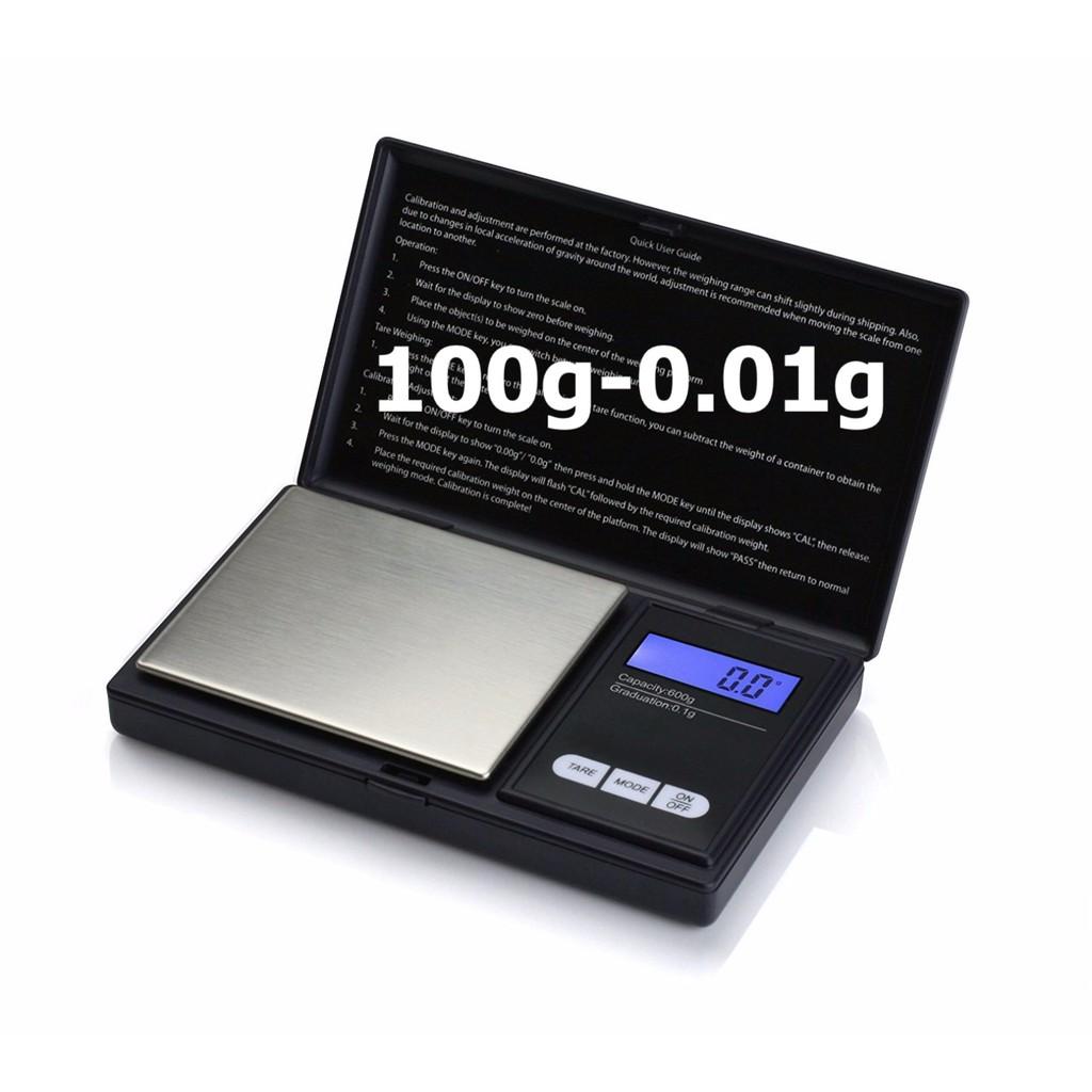 Cân Tiểu Ly 100g-0,01g, Cân Điện Tử Mini Bỏ Túi [B.201x]